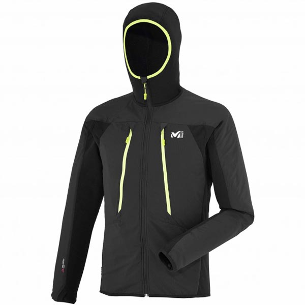 MILLET Men TOURING ALPHA COMPO HOODIE Black Outlet Online