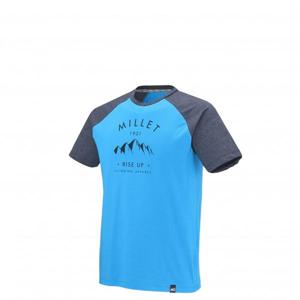 MILLET Men RISE UP CLIMBING TS SS BLUE Outlet Online