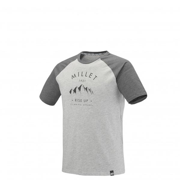 MILLET Men RISE UP CLIMBING TS SS GREY Outlet Online