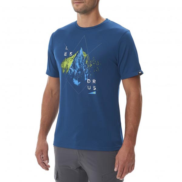 MILLET Men LES DRUS TS SS BLUE Outlet Online