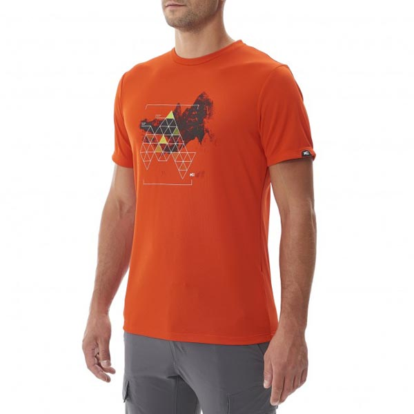 MILLET Men BACKAROUND TS SS ORANGE Outlet Online