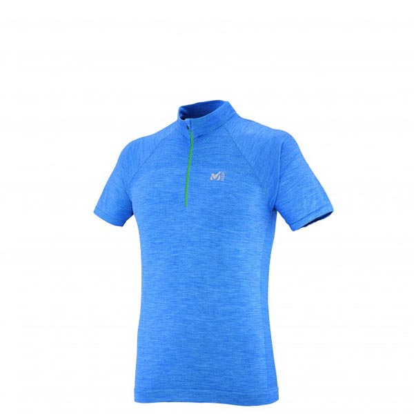 MILLET Men WOOL BLEND SEAMLESS TS SS BLUE Outlet Online