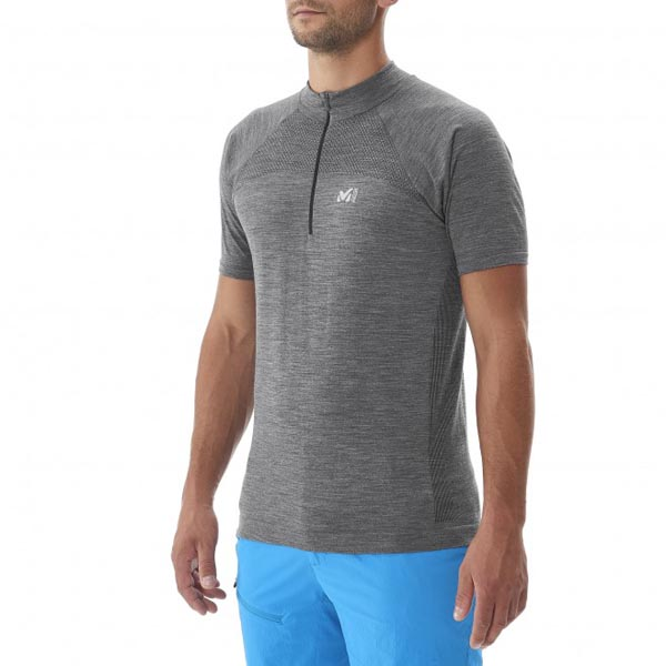 MILLET Men WOOL BLEND SEAMLESS TS SS GREY Outlet Online