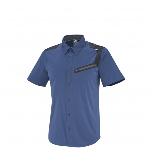MILLET Men CLARK PEAK TECH SS SHIRT BLUE Outlet Online