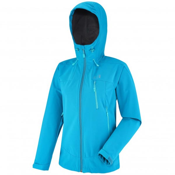 MILLET Women LD K SHIELD HOODIE Turquoise Outlet Online