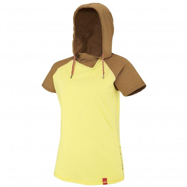 MILLET Women LD MADA ROC HOODIE SS Yellow Outlet Online
