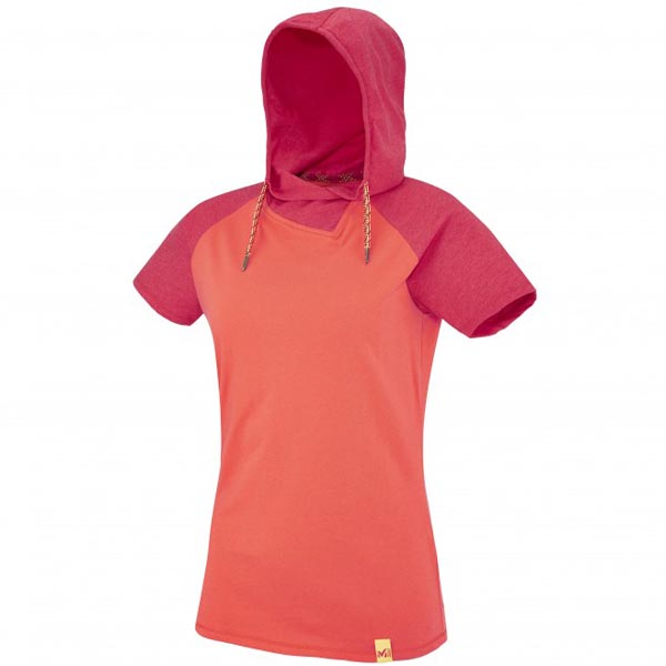 MILLET Women LD MADA ROC HOODIE SS Rose Outlet Online