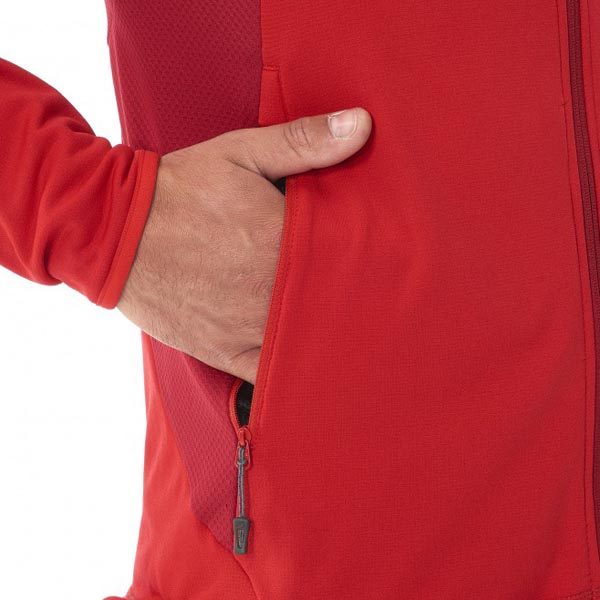 MILLET RED HIKING FLEECE JACKET FOR MEN On Sale