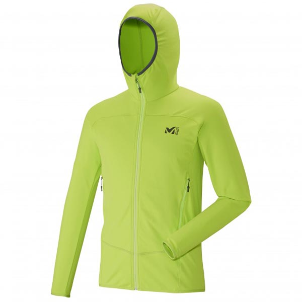 Men MILLET TECHNOSTRETCH HOODIE Green Outlet Store