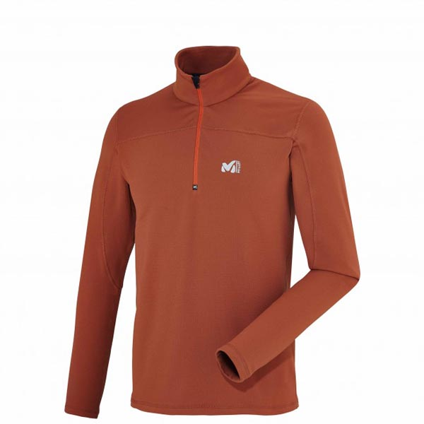 MILLET MEN'S ORANGE TREKKING FLEECE On Sale