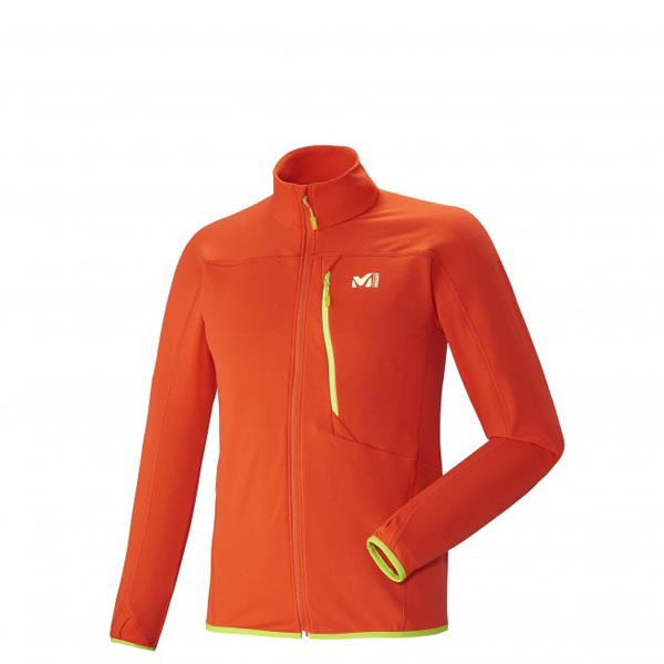 MILLET trail running - Men's Fleece jacket - Orange On Sale