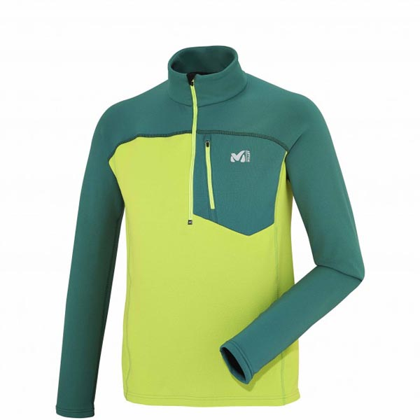 Men MILLET TECHNOSTRETCH ZIP Green Outlet Store