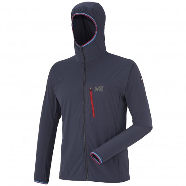 Men MILLET TRILOGY SHIELD 2L HOODIE Blue Outlet Store