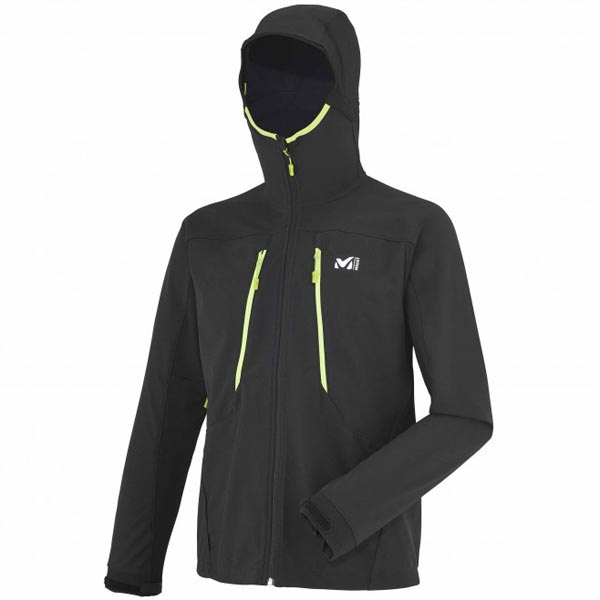 MILLET Men TOURING SHIELD HOODIE Black Outlet Online
