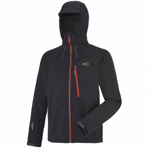 MILLET MEN'S BLACK MOUNTAINEERING SOFTSHELL On Sale