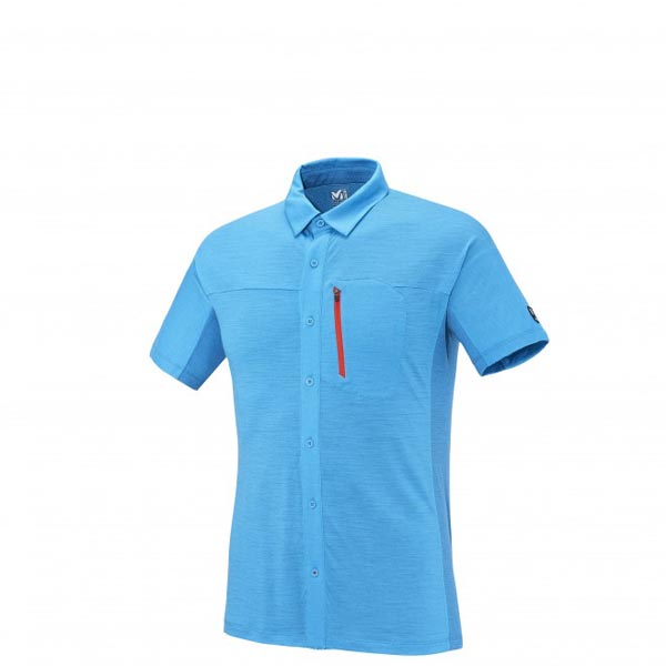 MILLET Men TRILOGY WOOL SS SHIRT Blue Outlet Online