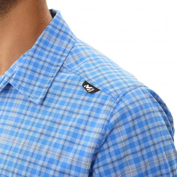 Men MILLET CASTLE PEAK STRETCH SS SHIRT Blue Outlet Store