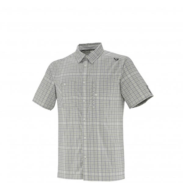 Men MILLET CASTLE PEAK STRETCH SS SHIRT Grey Outlet Store