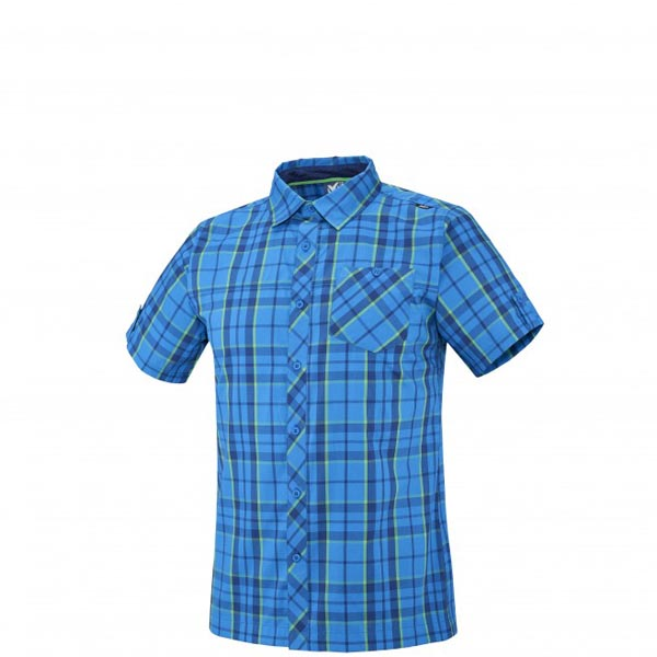 Men MILLET KINGS PEAK WOOL SS SHIRT Blue Outlet Store