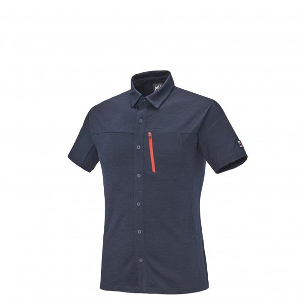 Men MILLET TRILOGY WOOL SS SHIRT Blue Outlet Store