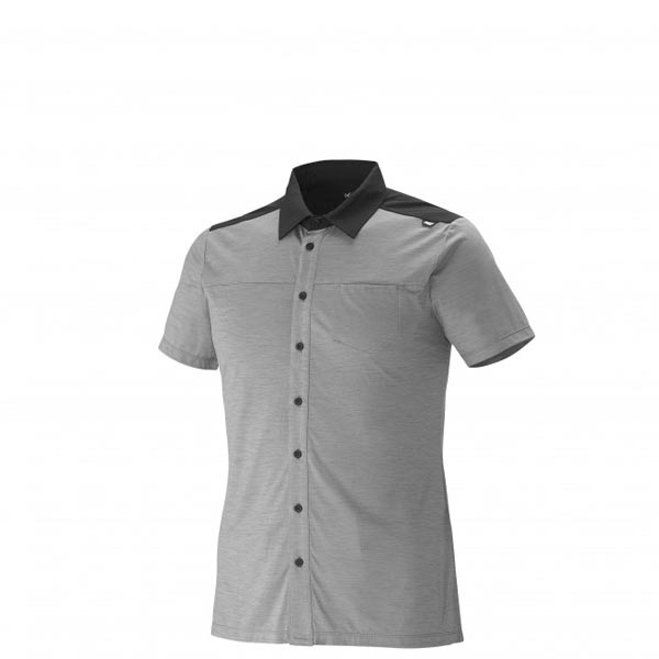 Men MILLET CLOUD PEAK WOOL SHIRT Grey Outlet Store