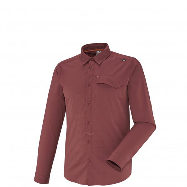 Men MILLET DEEP CREEK LS SHIRT Red Outlet Store