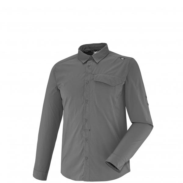 Men MILLET DEEP CREEK LS SHIRT Grey Outlet Store