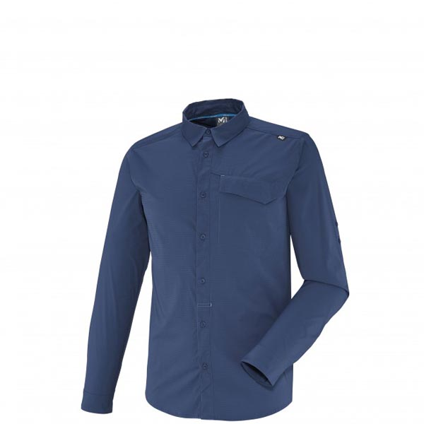 Men MILLET DEEP CREEK LS SHIRT Blue Outlet Store