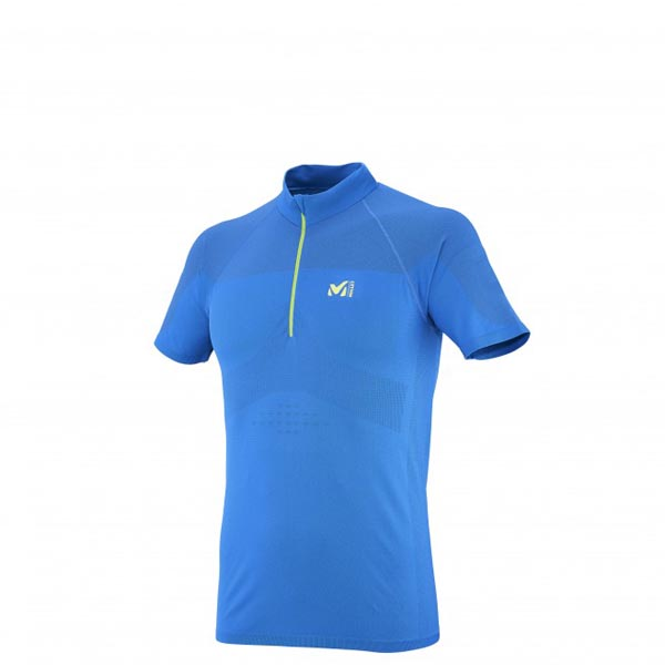 Men MILLET LTK SEAMLESS ZIP SS BLUE Outlet Store