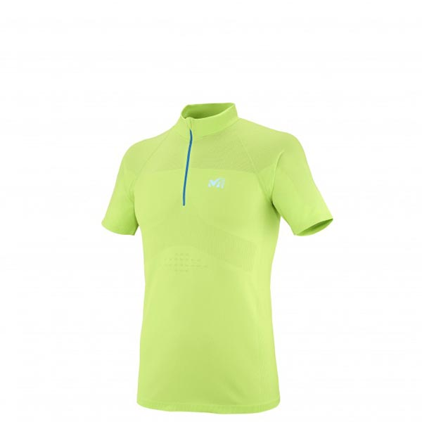 Men MILLET LTK SEAMLESS ZIP SS GREEN Outlet Store