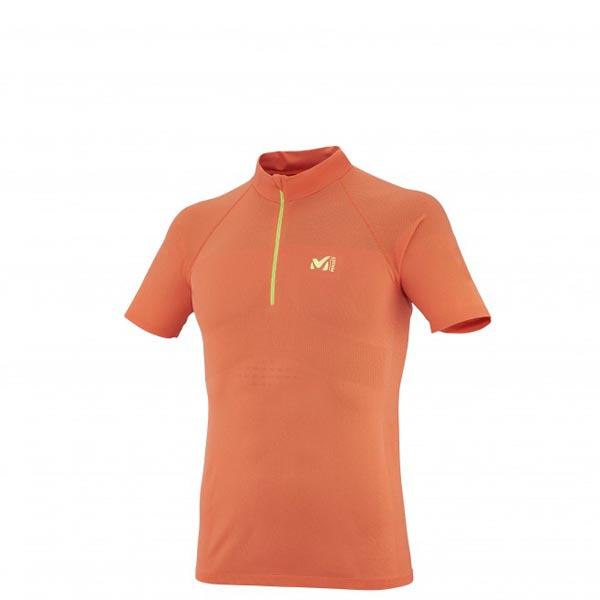 Cheap MILLET LTK SEAMLESS ZIP SS Men ORANGE Online