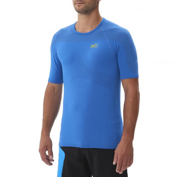 Men MILLET LTK SEAMLESS TS SS BLUE Outlet Store