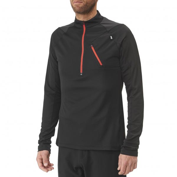 Men MILLET RED NEEDLES ZIP LS BLACK Outlet Store