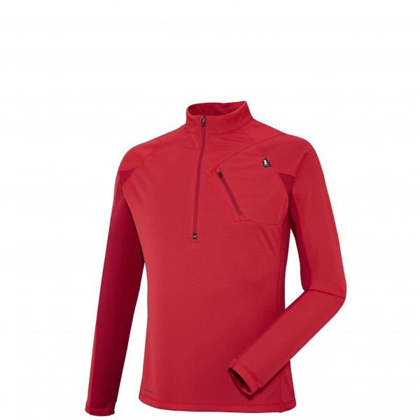 Men MILLET RED NEEDLES ZIP LS RED Outlet Store