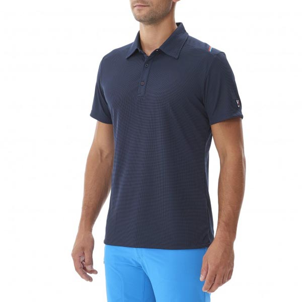 Men MILLET TRILOGY DRY GRID POLO BLUE Outlet Store