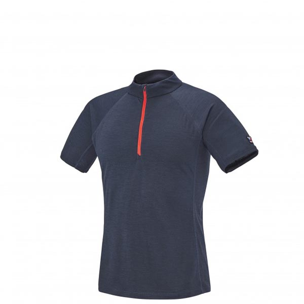 Men MILLET TRILOGY WOOL ZIP SS BLUE Outlet Store