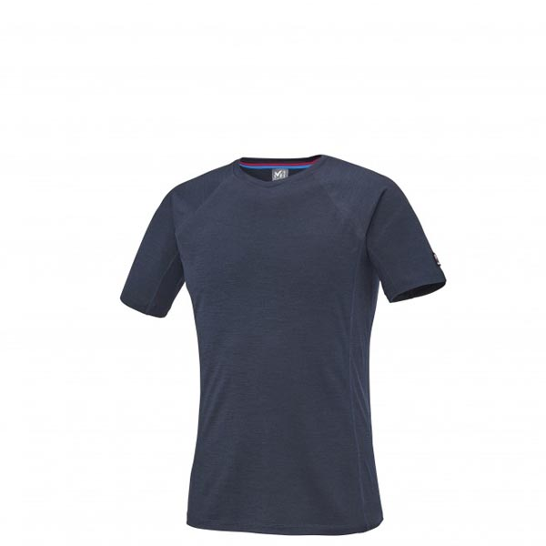 Men MILLET TRILOGY WOOL TS SS BLUE Outlet Store