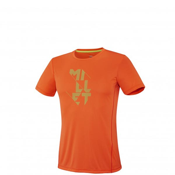 MILLET TRAIL RUNNING - MEN'S T-SHIRT - ORANGE On Sale