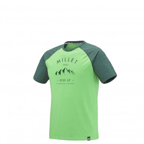 Men MILLET RISE UP CLIMBING TS SS GREEN Outlet Store