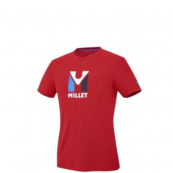 MILLET Mountaineering - Men\'s T-shirt - Red On Sale