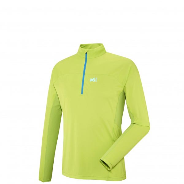 Men MILLET LTK INTENSE ZIP LS GREEN Outlet Store