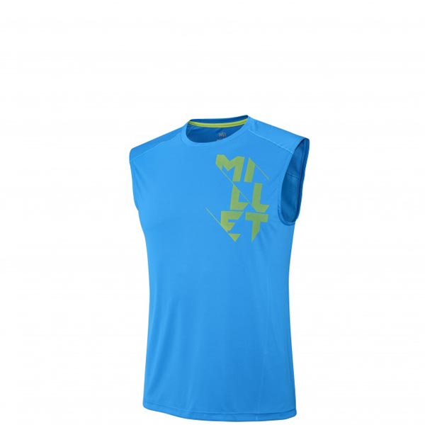 MILLET TRAIL RUNNING - MEN\'S T-SHIRT - BLUE On Sale