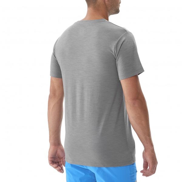 Men MILLET CLOUD PEAK WOOL TS SS GREY Outlet Store
