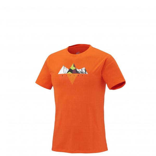 MILLET Trekking - Men\'s T-shirt - Orange On Sale