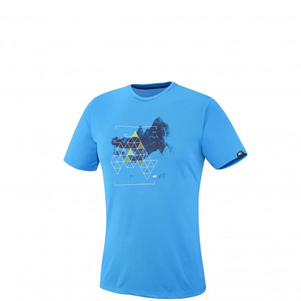 Men MILLET BACKAROUND TS SS BLUE Outlet Store