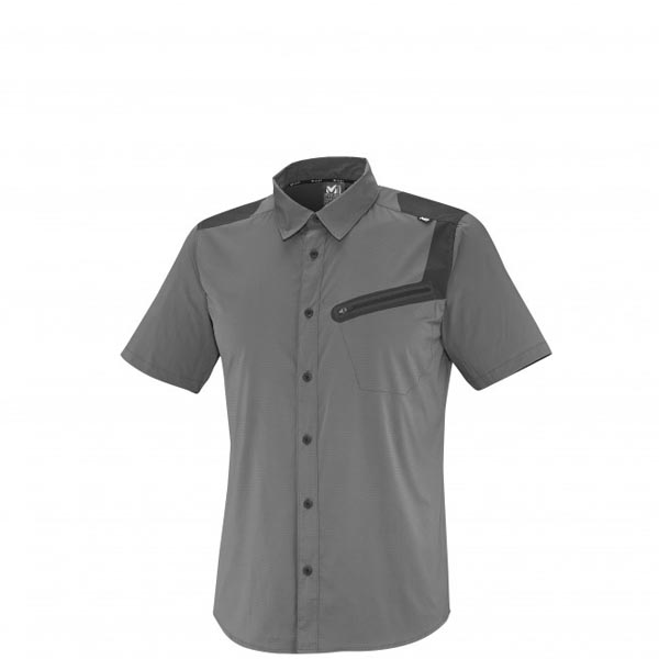 Men MILLET CLARK PEAK TECH SS SHIRT GREY Outlet Store