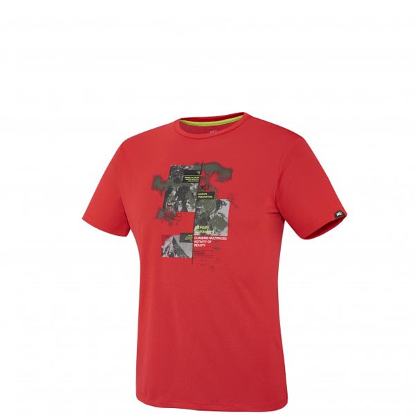 Men MILLET MISSION TS SS RED Outlet Store