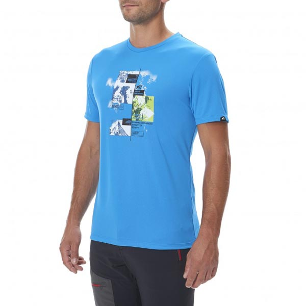 MILLET Mountaineering - Men\'s T-shirt - Blue On Sale