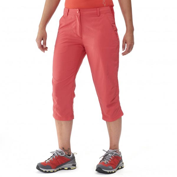 Women MILLET LD MOUNT CLEVELAND 3/4 PANT Red Outlet Store