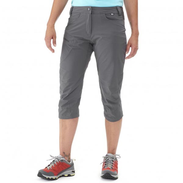 Women MILLET LD TREKKER STRETCH 3/4 PANT Grey Outlet Store